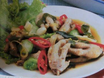 Resep Cah Ceker Ayam Cabai Hijau -Enak dan sedap