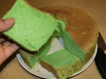 Sponge Cake  Atau Bolu Pandan -  Lembut Dan Lezat.